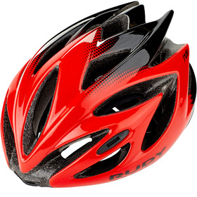 Rudy Project Rush Kask rowerowy, red/black shiny
